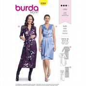 6384 Burda Pattern: Misses' Wrap Dresses
